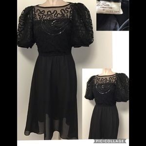 Vintage Jackie black after 5 dress size 8